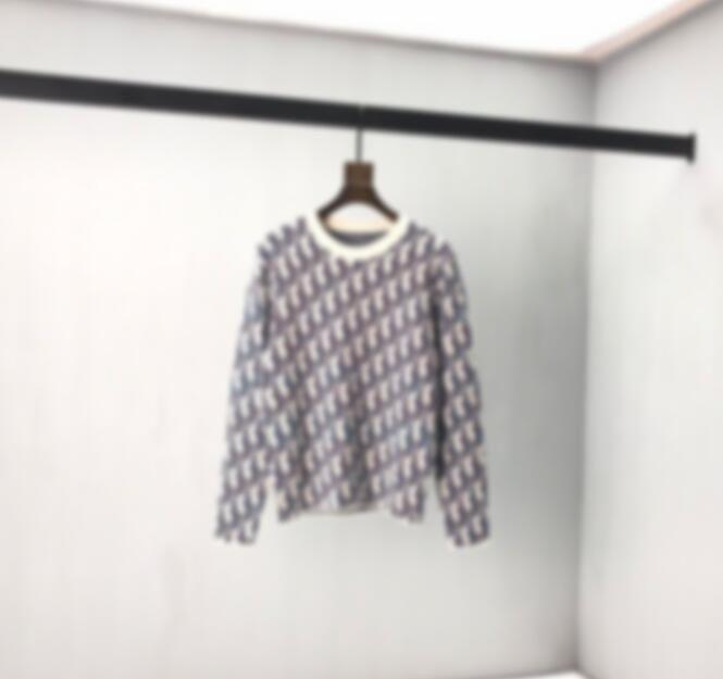 2020 Yeni Moda Tasarımcısı Tam Baskı Jakarlı Kazak Rahat Yuvarlak Boyun Örme Kazak Erkekler Ve Kadınlar Aynı Stil Ile Çiftler Sıcak