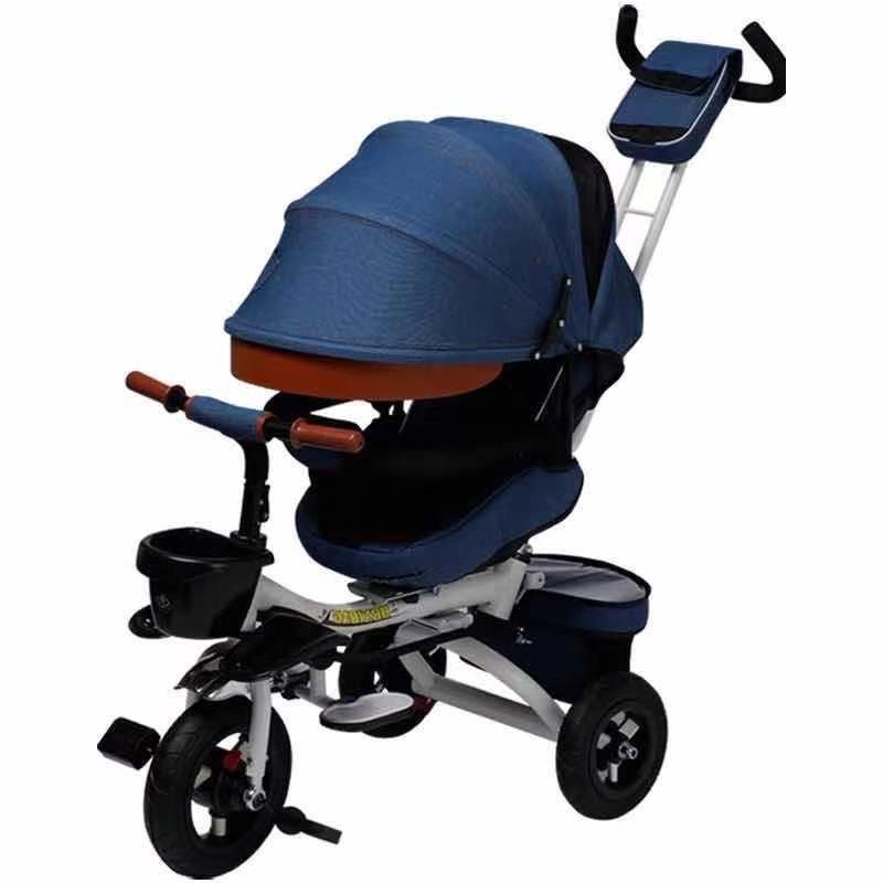 Yeni üç tekerlekli bebek arabası sıcak saels katlanabilir koltuk arabası 1-5 yıl çocuk bebek dönebilen ışık arabası