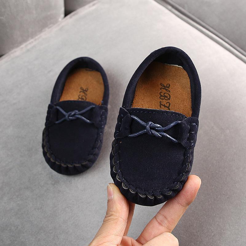 Ulknn Осенняя Новая Детская Горость Ботинка 2020 Мальчики Девочки Повседневная Обувь Большие Дети Сухожилия Нижняя Обувь Детская Обувь Tide Brown Blue LJ200907