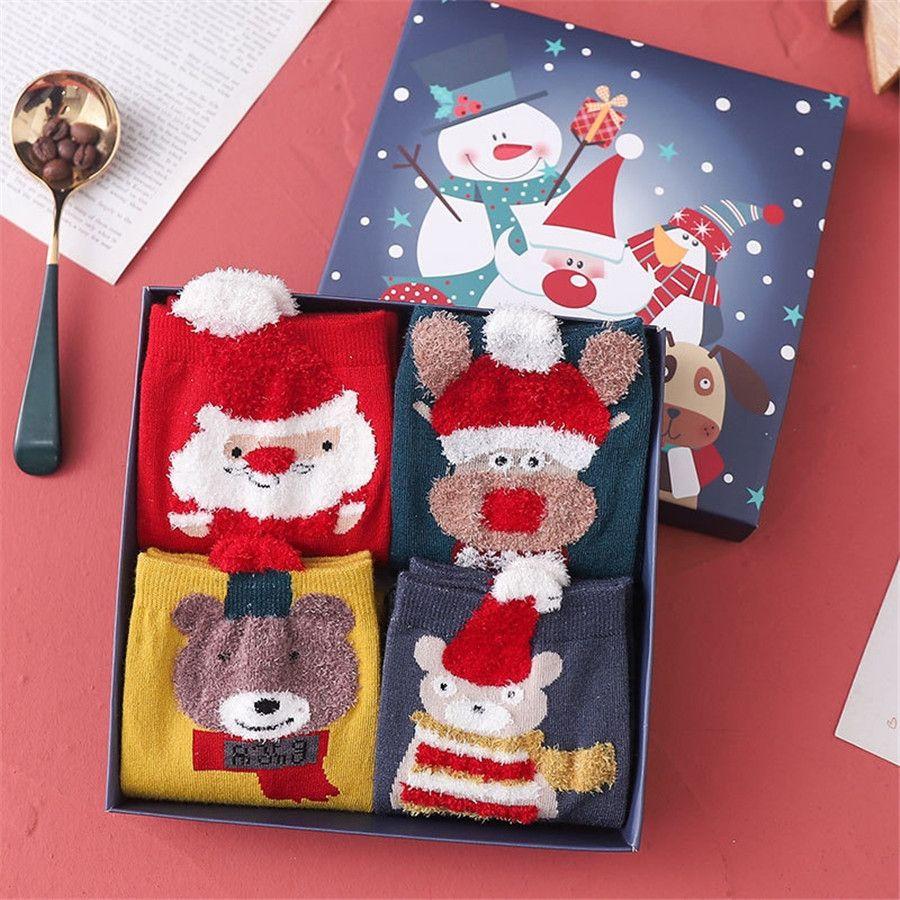 Mens de algodão espessura de malha meias de árvore de Natal padrão novidade meia-bezerro meias # 233