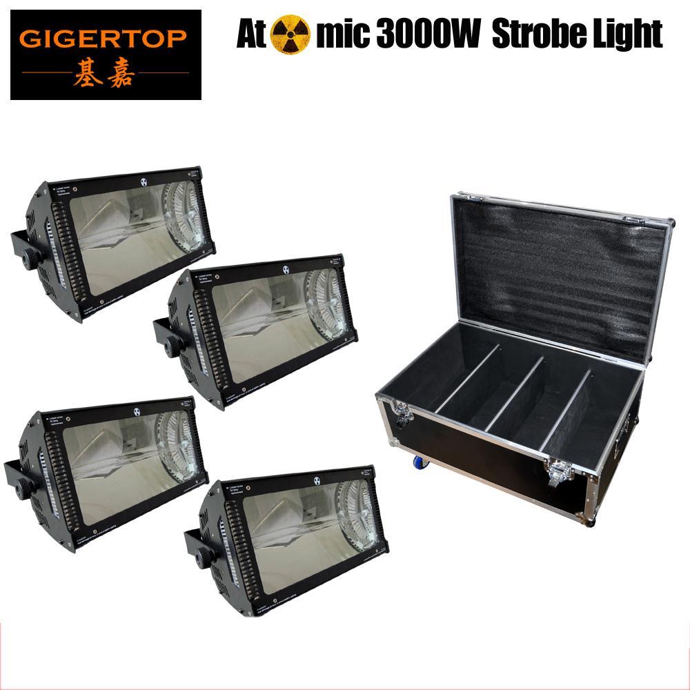 Полет тарного 4XLot 220V-240V 3000W Atomic Martin Strobe Light большой мощность Strobe Light для импульсной трубки диско газового оборудования