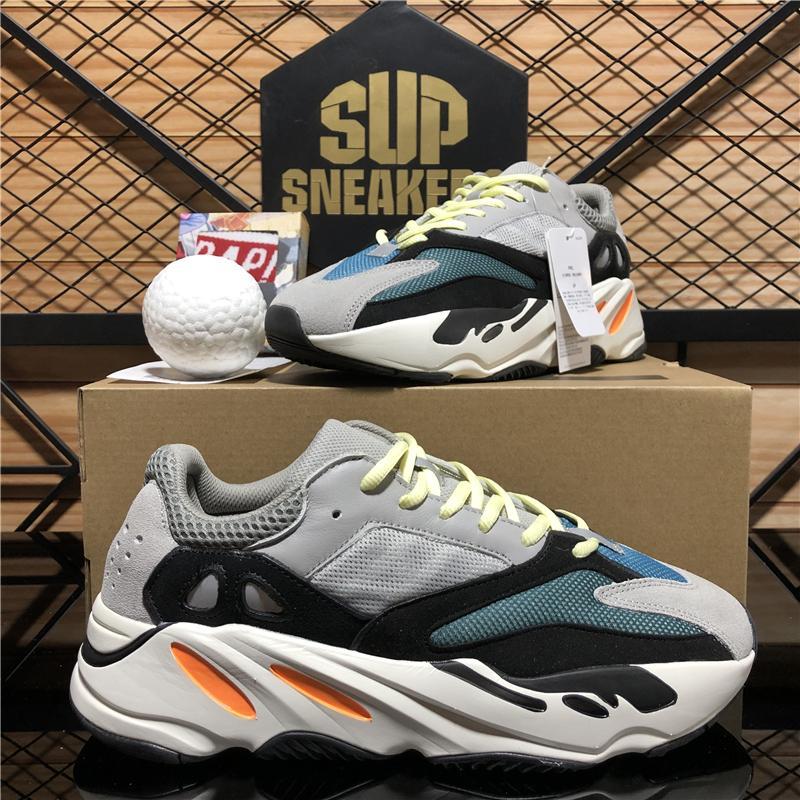 Top Quality Hommes Femmes Kanye 700v2 Sports Chaussures de course Sports Respirant Inertie Reflectif Solide Gris Utilitaire Noir Vanta Massage Soft Sport Entraîneurs Sneakers avec boîte