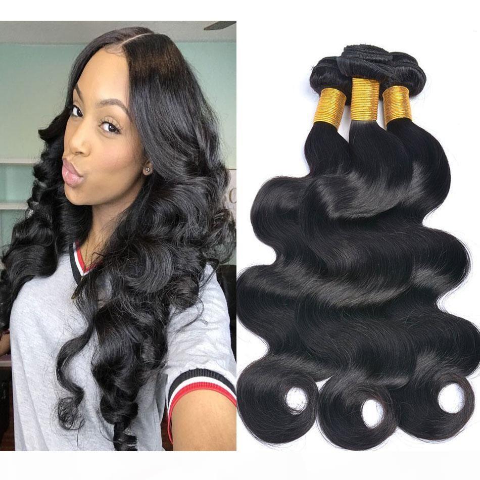 Peruvian Body Wave Virgin Vierge Cheveux Bundles 100% Non traité Brésilien Malaisien Indien Human Cheveux Humains Fouets Couleur Naturelle Extensions de cheveux