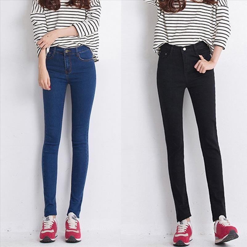 2020 New Fashion Jeans Donne Pantaloni a matita Pantaloni a vita alta Jeans Sexy Slim Elastic Skinny Pants Pantaloni Fit Lady Plus Size J30