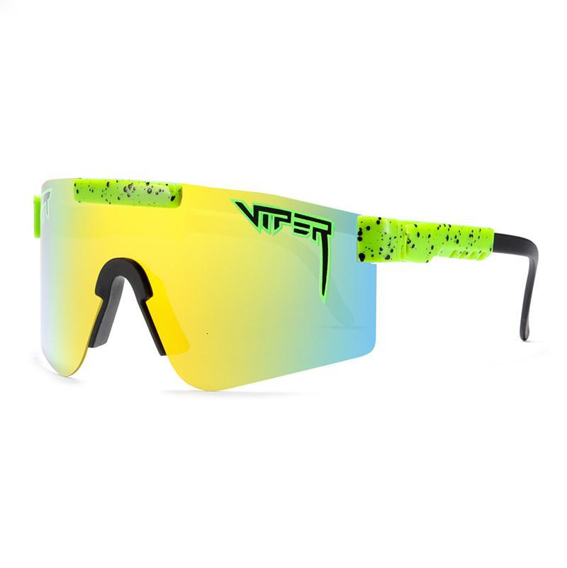 Designer Original Pit Viper Große Rahmen Sonnenbrille Bunte volle volles echte Film Polarisierte Winddichte Goggles + Box