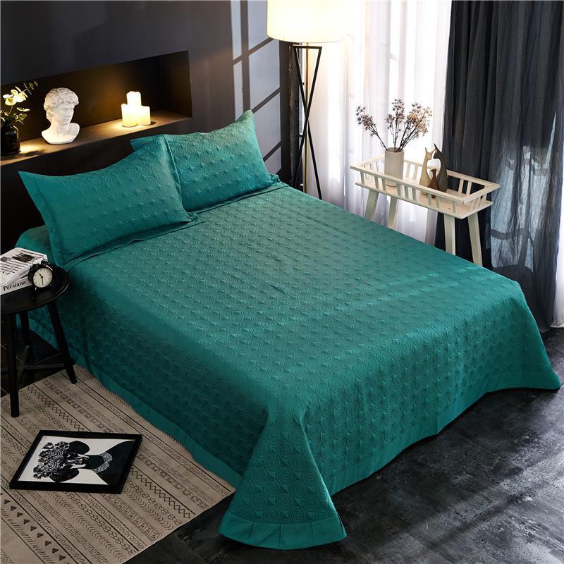 Сплошной цвет 3/5 шт. Египетский хлопок шелковистый кроватный покрыватель одеяло толстого одеяла одеяло Крышка подушка подушка Shams Queen king king размер