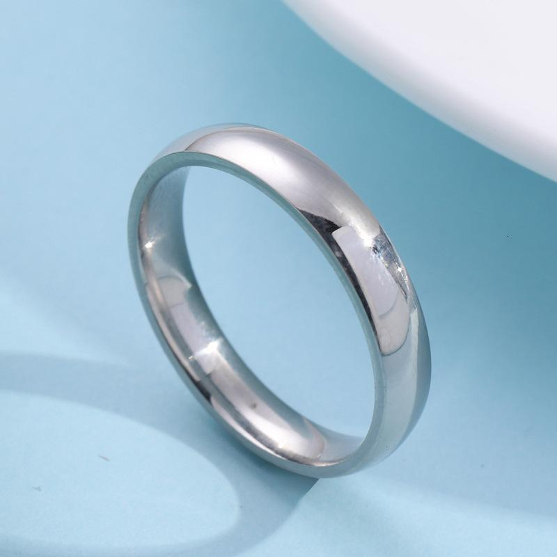 and ball Accessories outer 4mm arc smooth inner surface titanium couple stainless steel ring