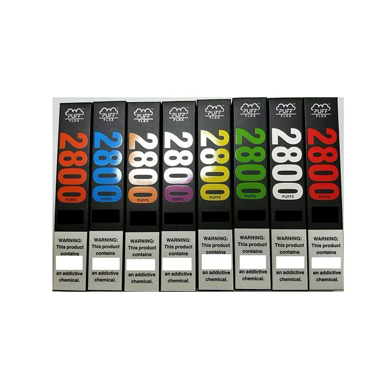 NEW Puff Flex Bars disposable device vape kits 2800 puffs 10ML prefilled 13Colors VS Flow XXL Plus MAX DHL Free