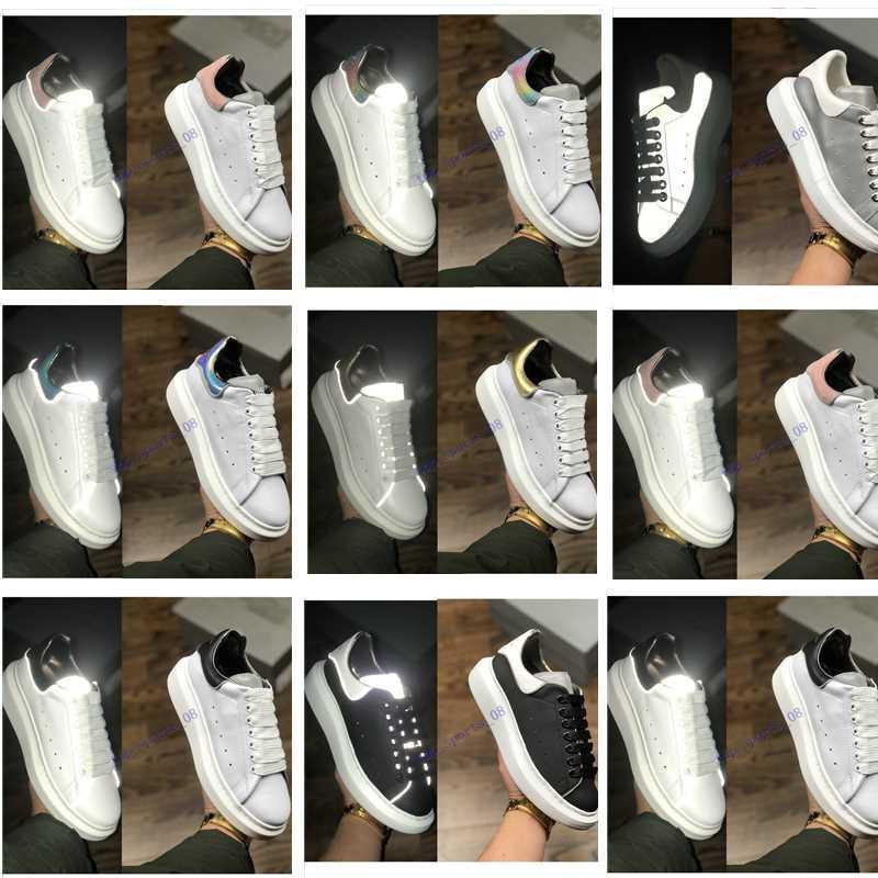 بيع مصمم أحذية المدربين عاكس 3 متر جلد أبيض منصة أحذية رياضية المرأة رجل شقة عارضة حفل زفاف أحذية من جلد الغزال الرياضة رياضية