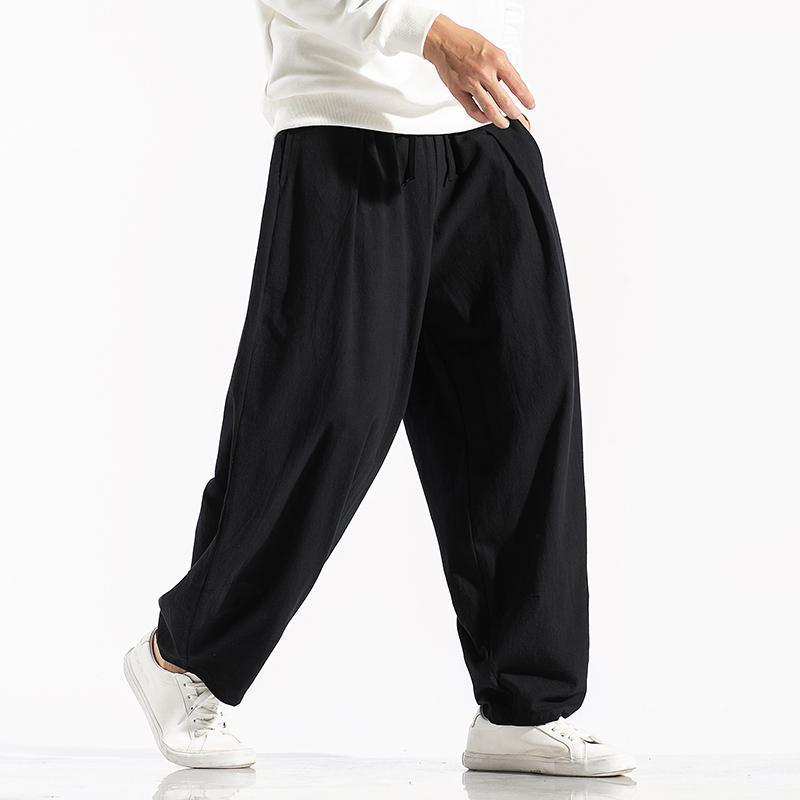 Novos Homens Sólidos Cor Harem Pants Harajuku Estilo Homens Solto tornozelo-Comprimento Calças Calças Streetwear Masculino Calças Casuais Grande Tamanho 5xl