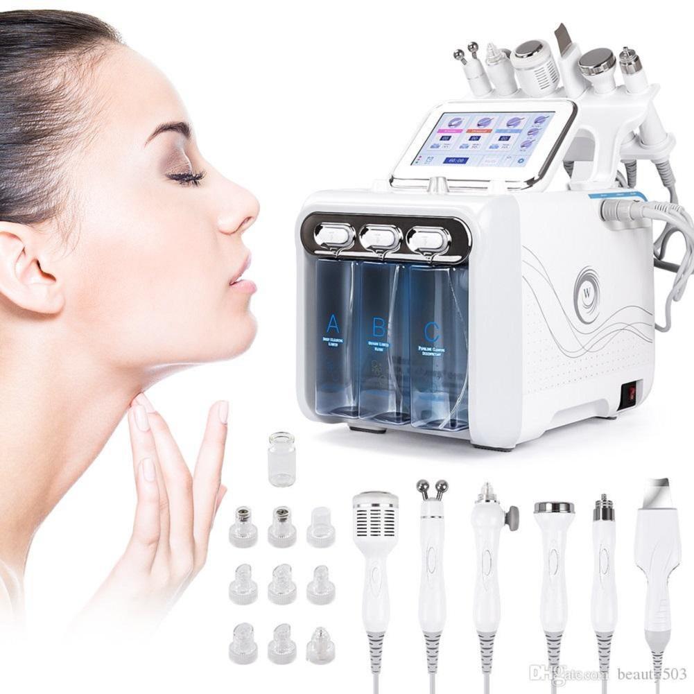 6 en 1 Hydra Facial Machine RF Rejuvenecimiento de la piel Microdermabrasión Hydro Dermabrasion Eliminación de arrugas Spa Hydrafacial Equipo de belleza