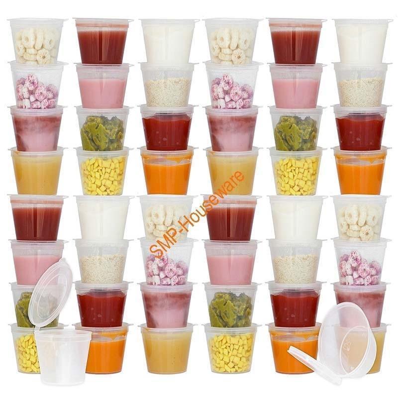 50 шт. Одноразовые BPA-бесплатные контейнеры для хранения детей с навесными крышками   Туристические закупки   Хранить домашнее, органические purees1