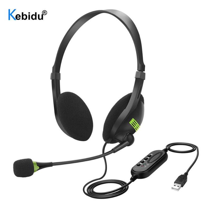 PC USB Headset com Microfone Cancelamento de Ruído Computador Fones de Ouvido Leve Fones de Ouvido para PC / Laptop / Mac / Escola / Crianças