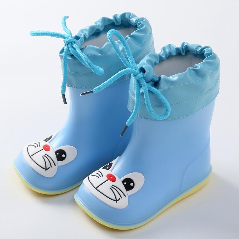 Bambini per ragazzi ragazze carino stivali da pioggia carino impermeabile bambino antiscivolo scarpe da acqua in gomma per bambini Rainboots 4 stagioni