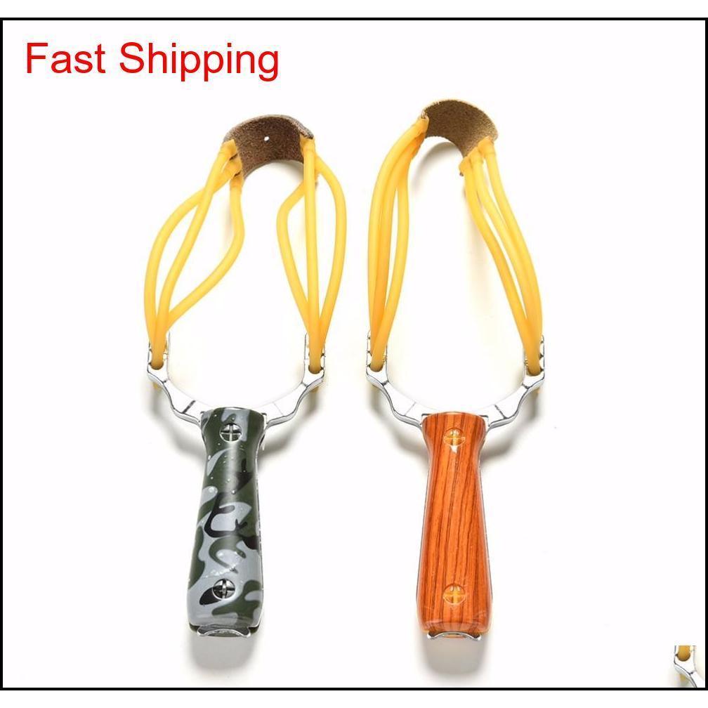 강력한 slingshot 슬링 샷 알루미늄 합금 위장 나무 slingshot 야외 사냥 활 카투 루트 촬영 게임 액세서리 NCCGB