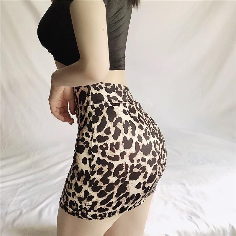Partito stretto Vedi attraverso Gonne Micro Mini Gonne in vita alta Sexy Leopard Snake Pattern Gonne Pacchetto Casual Hip Short