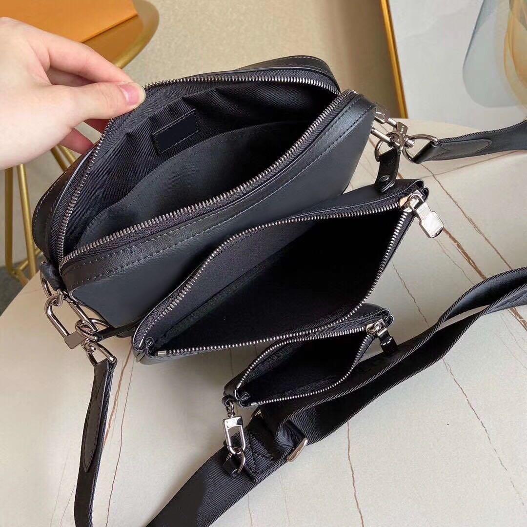 Adam Deri Messenger Çanta Için 3 Parça Set Satchel Toptan Moda Paketi Çanta Erkekler Presbiyopik Mini Omuz Orijinal ADCSU