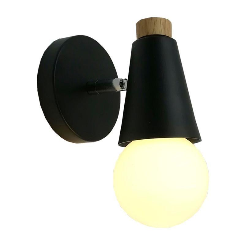 참신 다채로운 6W LED 벽 램프 나무 금속 노르딕 실내 조명 현대 앉아 룸 복도 가게 가게 조명기구 AC110-265V