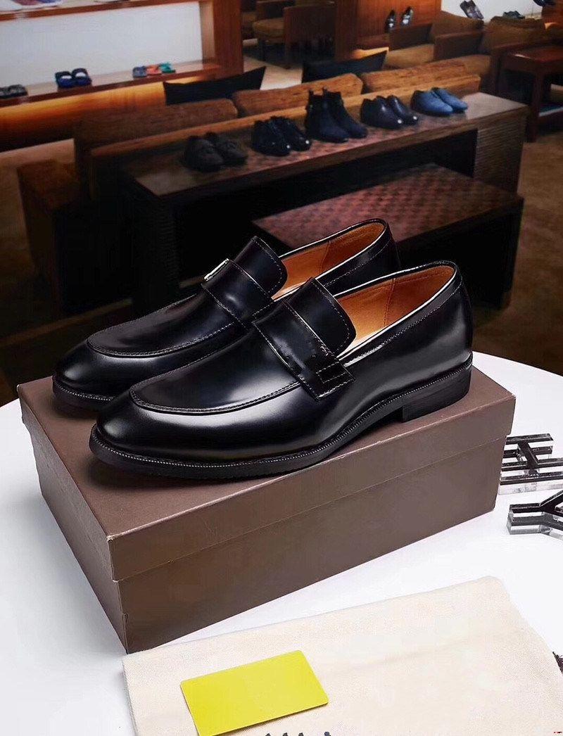 Designer di 18SS Altezza Aumento di 6 cm da uomo Dress Shoes Split Leather Oxford Scarpe Brown Black Black Shoes Business Shoes Uomo