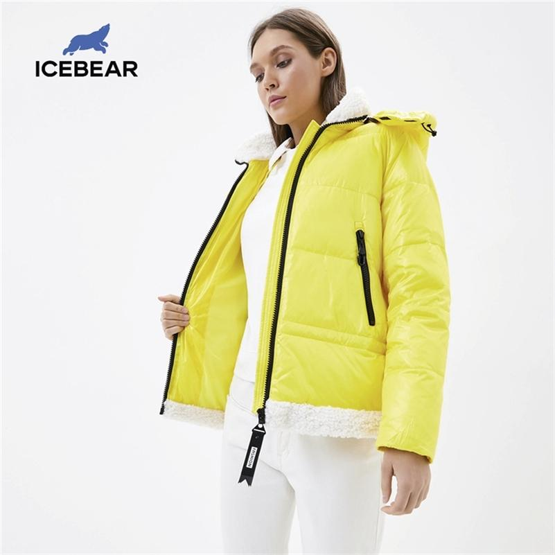 ICEbear new winter short jacket hooded female padded winter parka padded coat brand women's clothing GWD20122I 201211