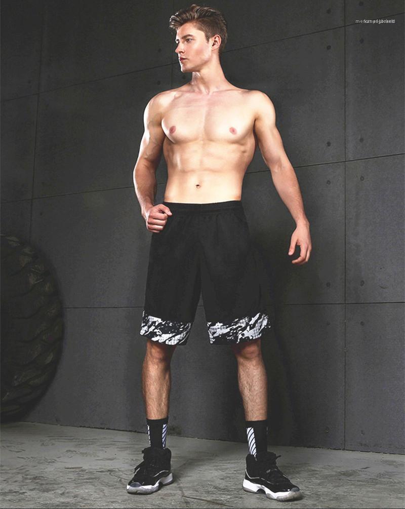 Pantaloni Pantaloni da basket Pantaloni sottili Sezione sottile Formazione fitness Formazione del ginocchio LungePants New Mens Pantaloncini sportivi Estate Stuss Funtion