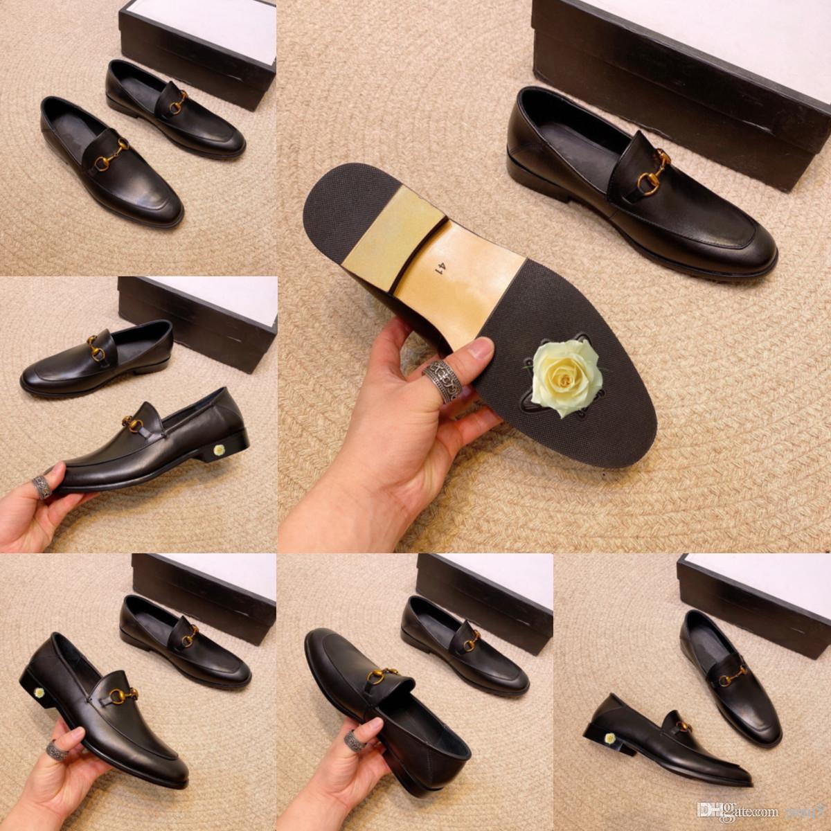Scarpe casual da uomo di lusso Aziendale Traspirante comodo Oxfords Uomini Genuine Pelle Designer Designer Vestito Scarpe da uomo Festa di nozze Scarpe formali