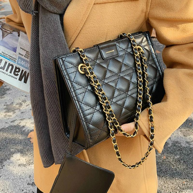 Designer weistlich luxus große sac tasche frauen a frauen pu taschen tasche winter femme leder stickerei schulterfaden haupt handtaschen qtruu