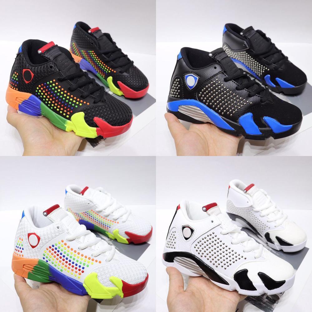 Размер Hot 2020 J14 XIV 14 полета воздуха на открытом воздухе Дети баскетбол обувь мальчик девочка молодежь ребенок спорт Бег баскетбола тапки ботинок 28-35