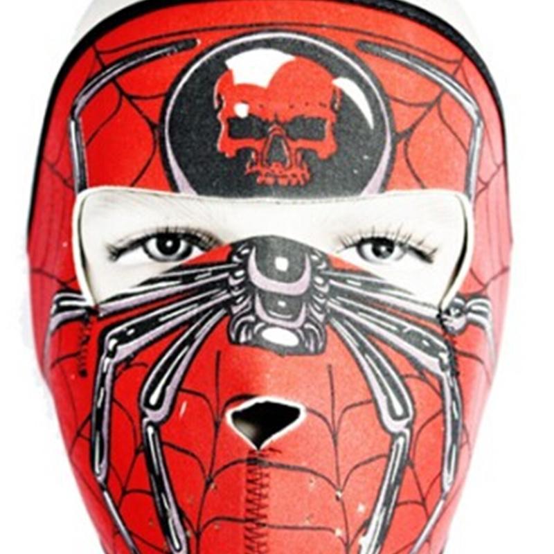 Призрак Регулируемый неопреновый взрослый череп Balaclava Assassin полный 2 в маске 1 Реверсивный полноценный маска для мотоциклов сноуборд