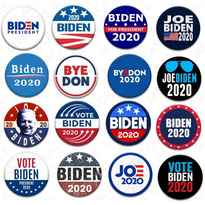 18 Stiller Joe Biden Broş 2020 ABD Başkanlık Seçim Biden Rozeti Teneke Seçim Rozetleri Biden Oy Broş Pin Parti Hediye Şekeri D7204