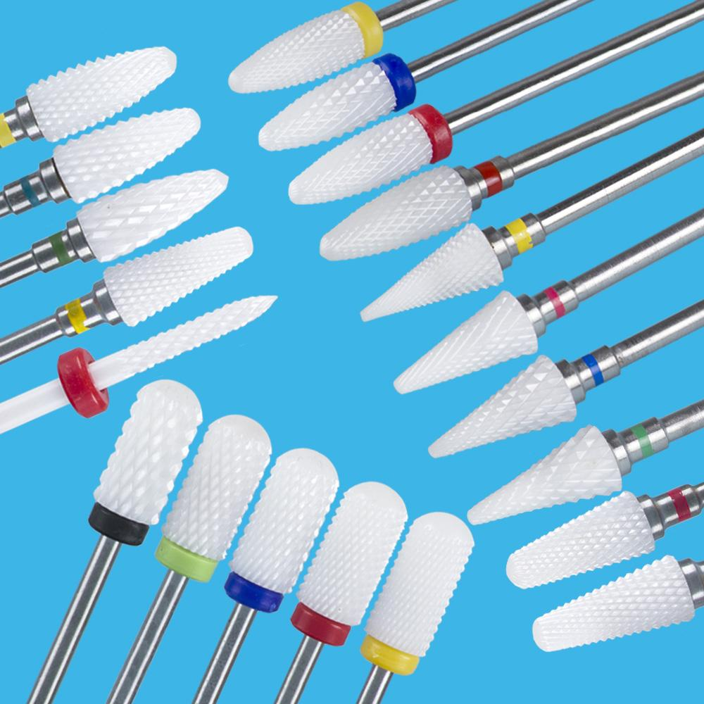 Milling Cutter For Manicure Ceramic Mill Manicure Machine Set Cutter For Pedicure Electric Nail Files Nail Drill Bit Feecy