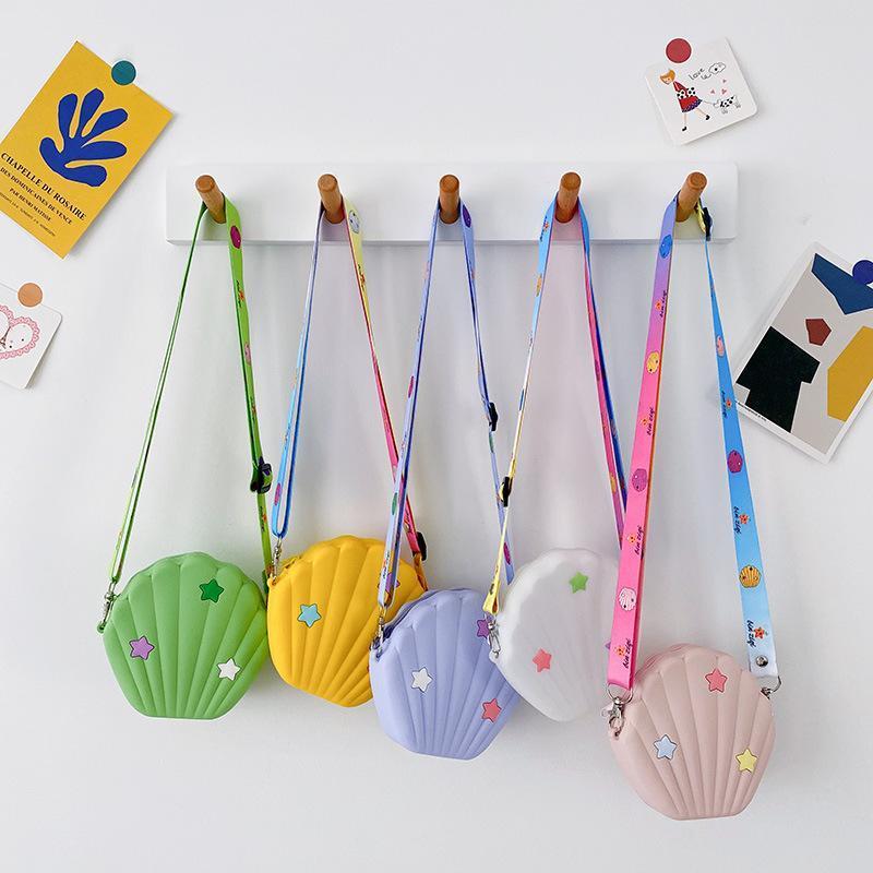 2021 chicas de estilo mini bolsas coreano lindo niña bolsa gel messenger regalo niños sílice pequeño bolsa de embrague niño mote fgntw