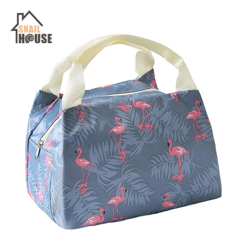 Snailhouse Printing Portable Travel Insulation Bag Box Insulation Lunch Package Convenience Office Handbag Cloth Lunch Oxford Tstew