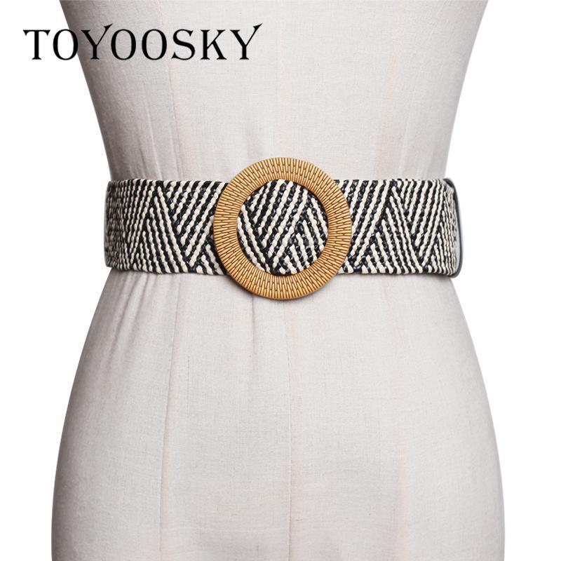 2020 Богемский вязаный женский ремень Этнические широкий ремень для платья пальто с круглым квадратным шпилем Высокое качество для вечеринки