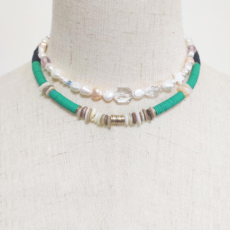 Chokers 2021 grüne Halskette Männer ethnischen Stil Nackenzubehör Modernes Einfache Sommer Trend Beach Choker Frauen Geschenke