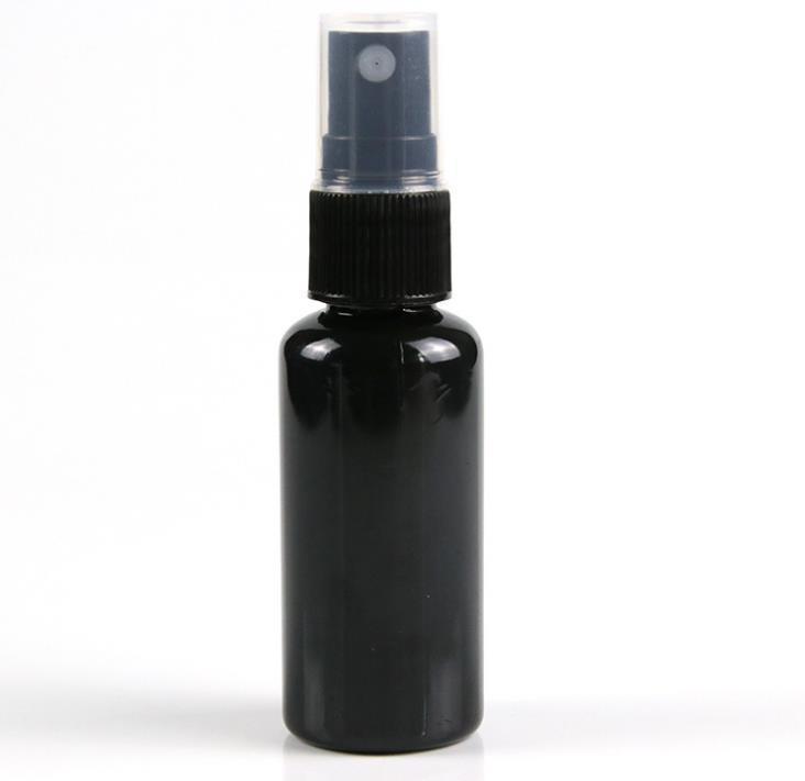 10 20 30 50ml preto recarregável névoa fina spray garrafa de perfume pulverizador garrafa atomizadores cosméticos pet spray garrafas