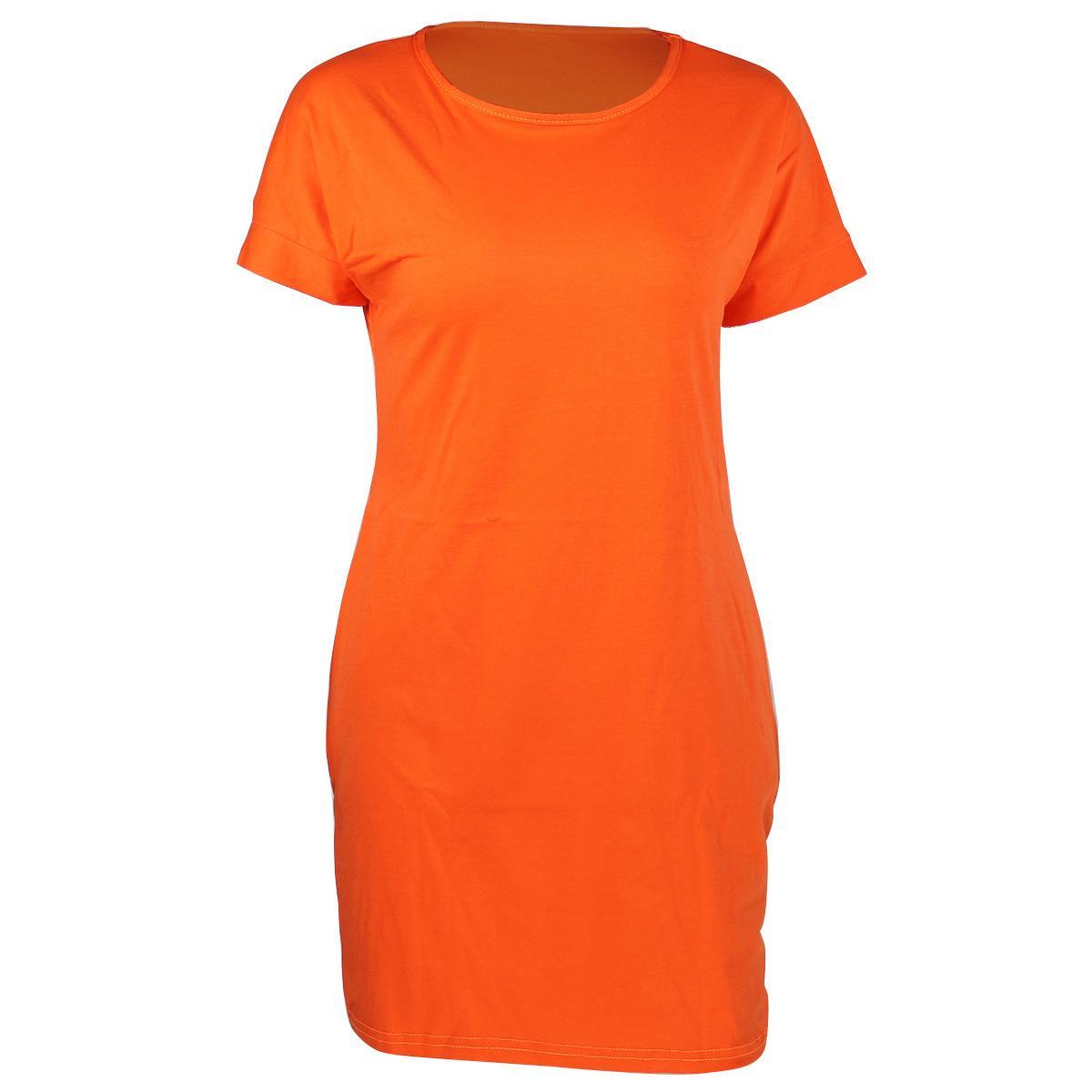 Moda para mujer Dressexy Cuello redondo Vestido informal suelto Mujeres