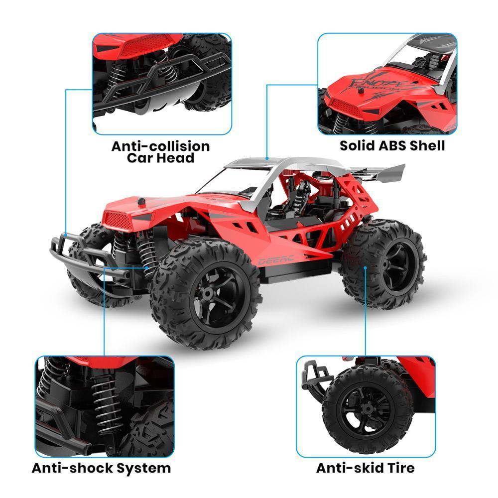 DERC 1:22 RACING RC ROCK ROCK COWLER CHAMP DE CONTRÔLE DE LA RADIO 60 MINES Temps de jeu 20 km / h 2.4 GHz Drift Buggy Voiture pour enfants 201218