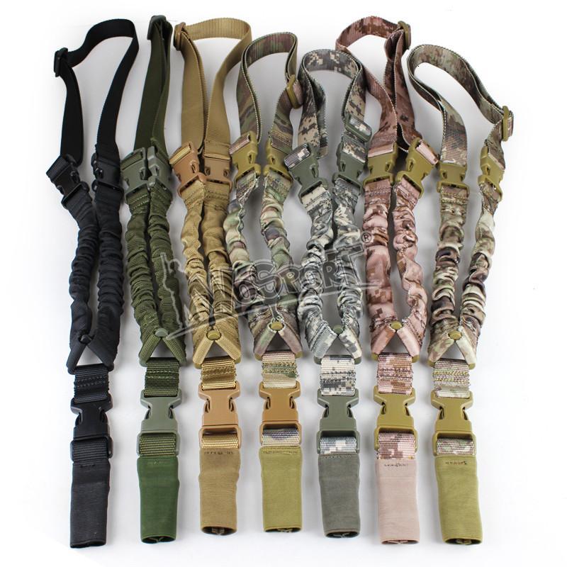 Nuovo punto tattico all'aperto in nylon regolabile in nylon singolo di alta qualità bungee fucile pistola sistema di fionda cinturino corda portatile