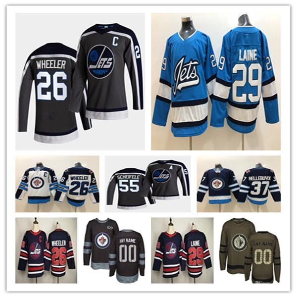 2021 Winnipeg Jet Reverse Retro Hockey Jersey Blake Wheeler Nikolaj Ehlers Dustin Byfuglien Patrik Laine Paul Stastny Dylan Demelo Little Pierre-Luc Dubois