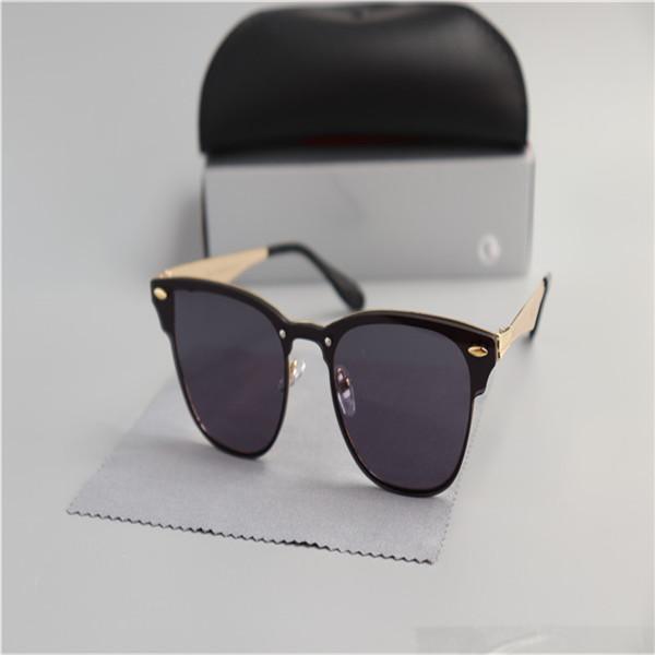 NEUE ANREISE Aluminium-Magnesium-Sonnenbrille Frauen-Männer UV400-Linsen-Retro-Weinlese-Sportsonnengläser Goggle mit freien Fällen und Boxen Xsyjsxyjk