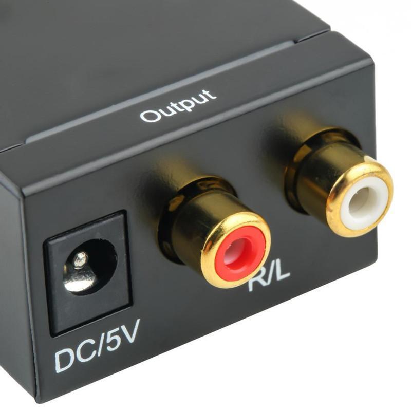 디지털 Adaptador Optic Coaxial RCA Toslink 신호 아날로그 오디오 컨버터 어댑터 케이블