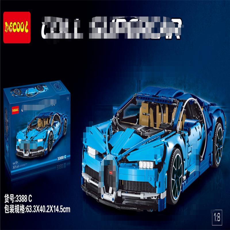Bugatti Veyron Qilong Machinery Technology Group 38036 Supercar assemblé Bâtiment Blocs de construction en plastique Modèle de sport Toy 42083
