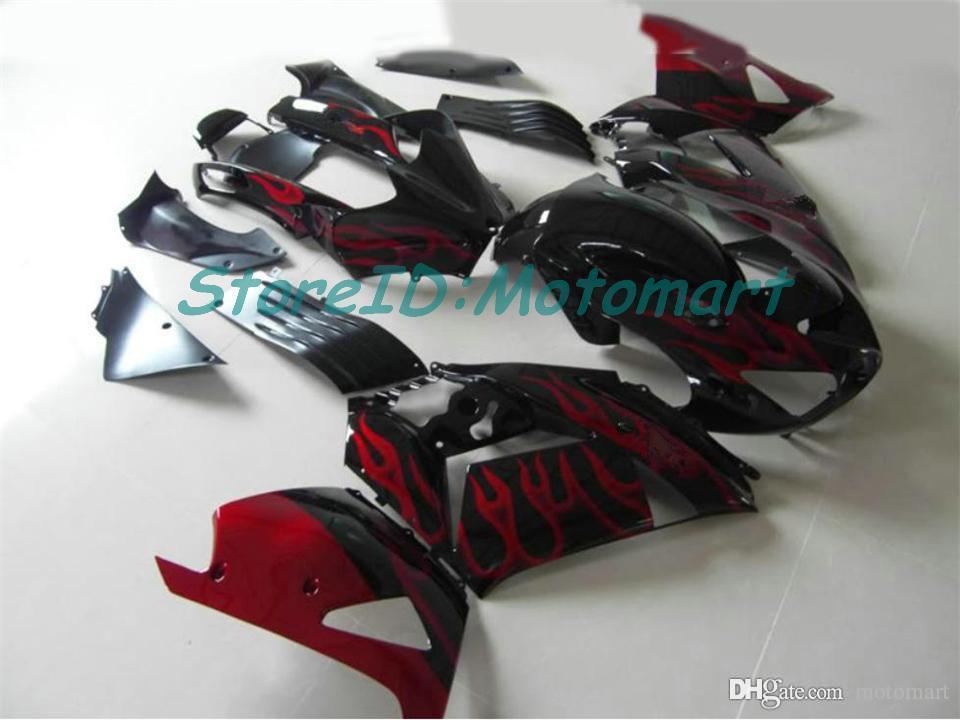 Cuerpo para Kawasaki Ninja ZZR1400 14 R ZX14R 06 07 ZZR 1400 ZX-14R ZX 14R 2006 2007 Carreying ZX14R002