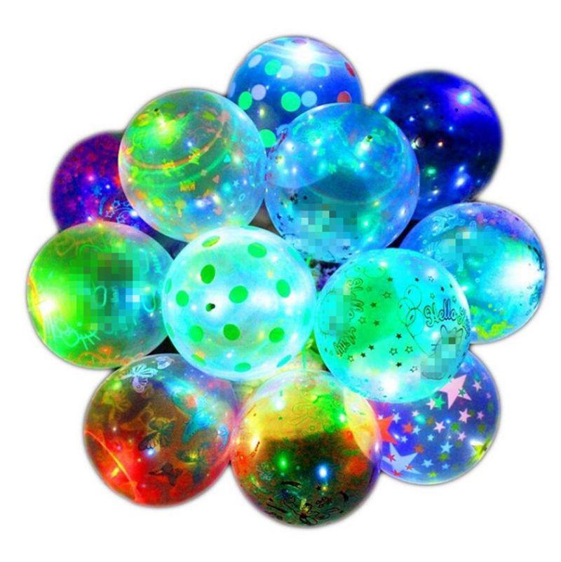 Yaratıcı Moda Sevgililer Günü Aydınlık Balon Şeffaf LED Bobo Topu Noel Cadılar Bayramı Hediye Parti Düğün Süslemeleri için E121803