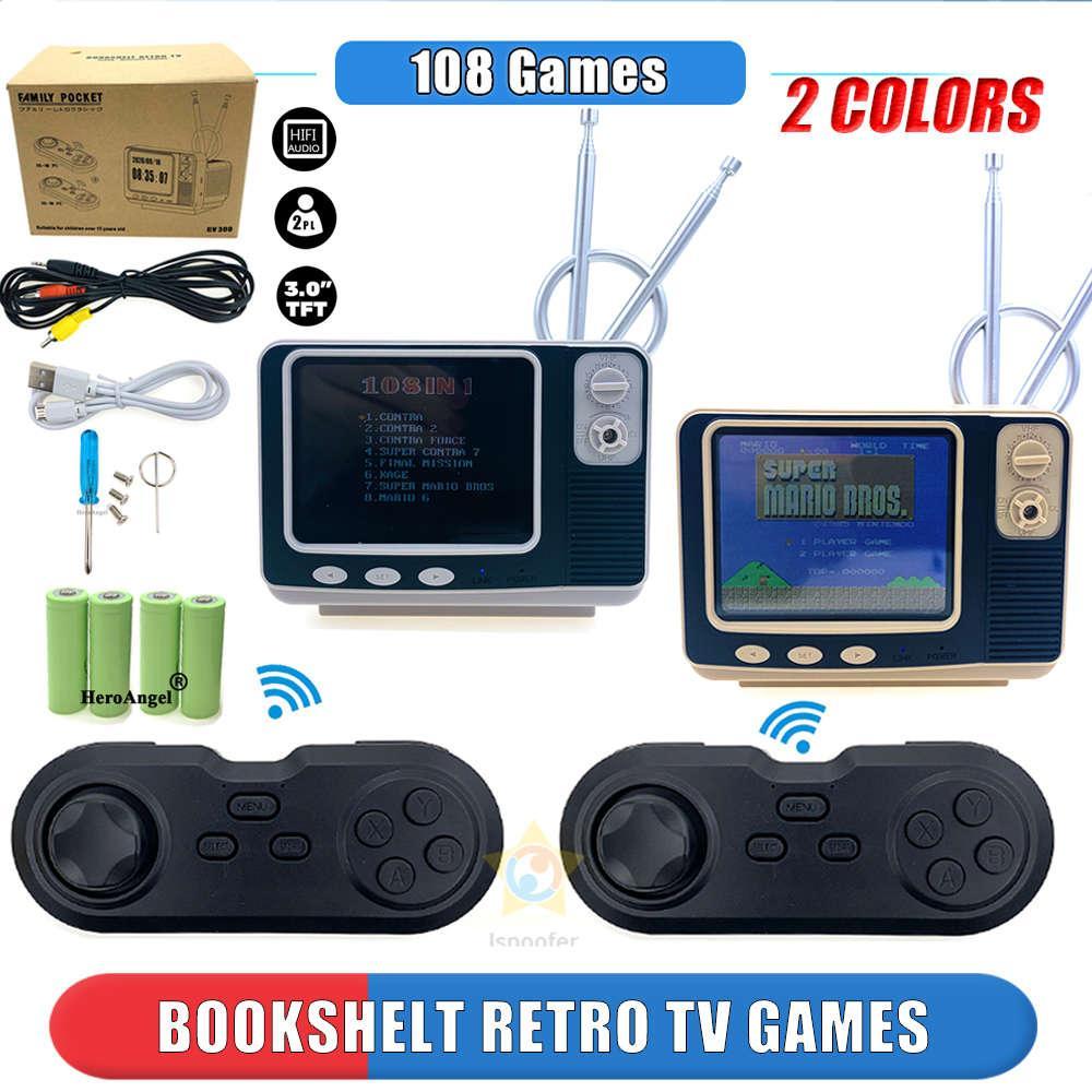 GV300 Retro Bücherregal TV Game Console 3,0 Zoll Handheld Spieler Eingebauter 108 Classic Gam Mini Pocket Gamepad für Kinder Geschenk
