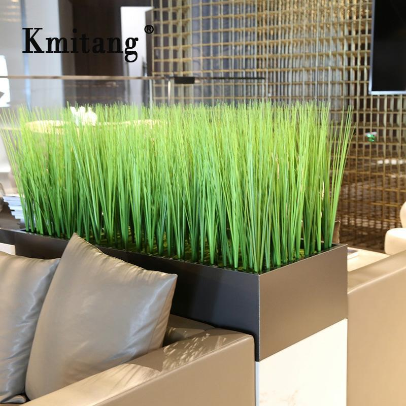 81cm 10pcs artificielle oignon herbe plantes Faux feuillage en plastique vert bouquet feuilles de roseau pour Salon Hôtel Bureau Décoration