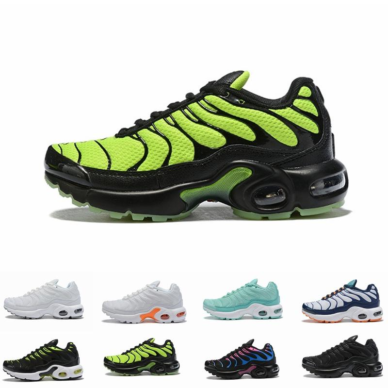 NIKE AIR MAX TN 2019 أطفال TN Plus مصمم أحذية رياضية فاخرة الجري أحذية الأطفال رضيع الفتيات المدربين تينيسي كلاسيك في الهواء الطلق حذاء طفل