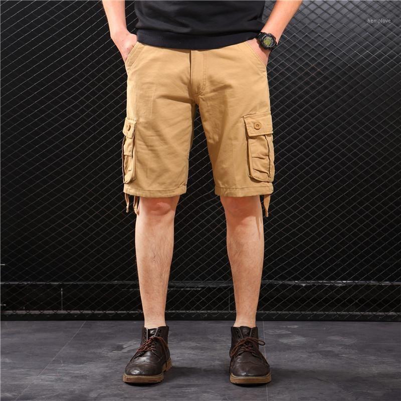 Мужские шорты грузовые мужчины летние повседневные карманные Masculino Joggers общие короткие брюки плюс размер 29-44