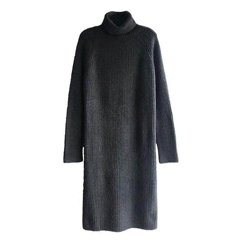 2020NEW Южнокорейская версия темперамента свободно платье толстый свитер Женщины в осенью и зимой Длинные водолазки Q1217